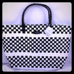 Kate Spade Black and White Handbag Tote Brand New